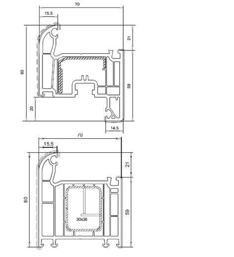 Профильная оконная система Veka SOFTLINE