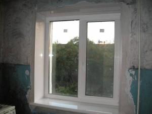 отделка окна ПВХ