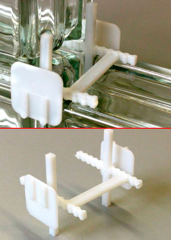 Изображение распорного крестика для укладки стеклоблоков