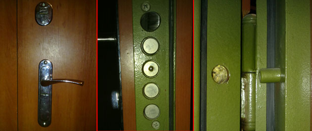 Запорные механизмы на входных дверях из стали