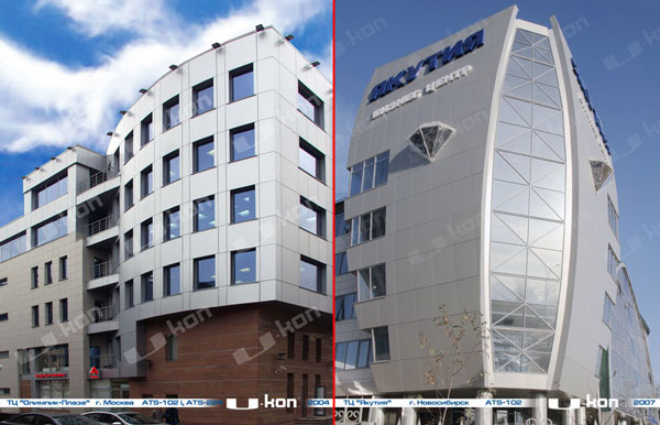 Вентилируемый фасад здания