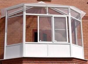 Зимний сад на балконе на основе конструкций металлопластиковых окон