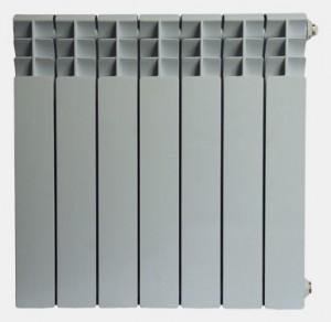 Дюралюмиевый радиатор. Аналогичен по внешнему виду с алюминиевыми радиаторами