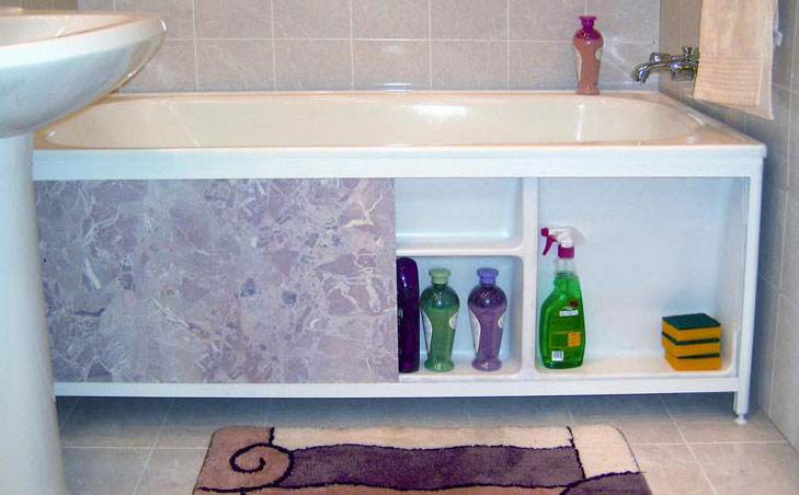 Как сделать экран под ванную своими руками