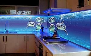 Скинали - декоративная панель для фартука рабочей зоны кухни