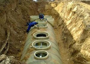 Монтаж системы автономной канализации для дачного посёлка