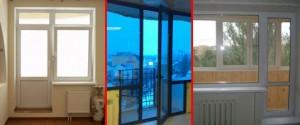 Варианты расположения дверей в балконных блоках