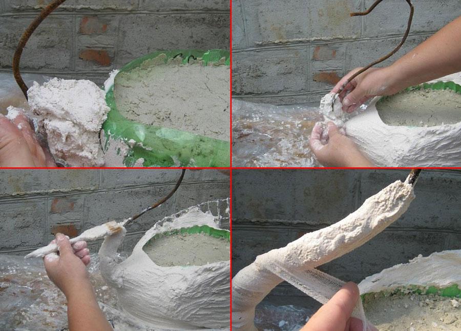 лебеди из пластиковых бутылок-пошаговая инструкция