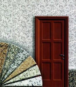 Фасад отделанный мраморной крошкой