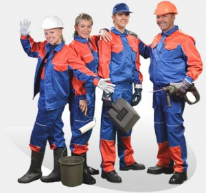 Спецодежда для рабочих строительных специальностей