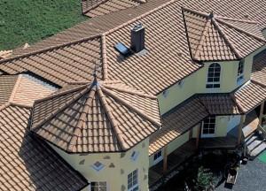 Чешуйчатая черепичная крыша