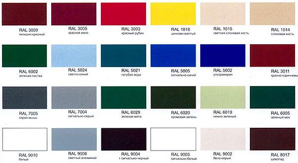 Популярные цвета и оттенки металлического сайдинга