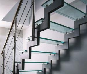 Каркас лестницы открытого типа с двумя косоурами