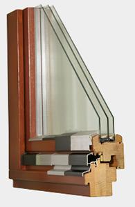Окна из древесины лиственницы