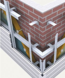 Монтаж металлического сайдинга к кирпичной стене