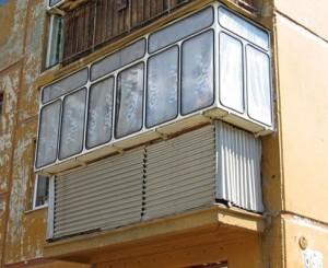 Троллейбусно-автобусное остекление балкона