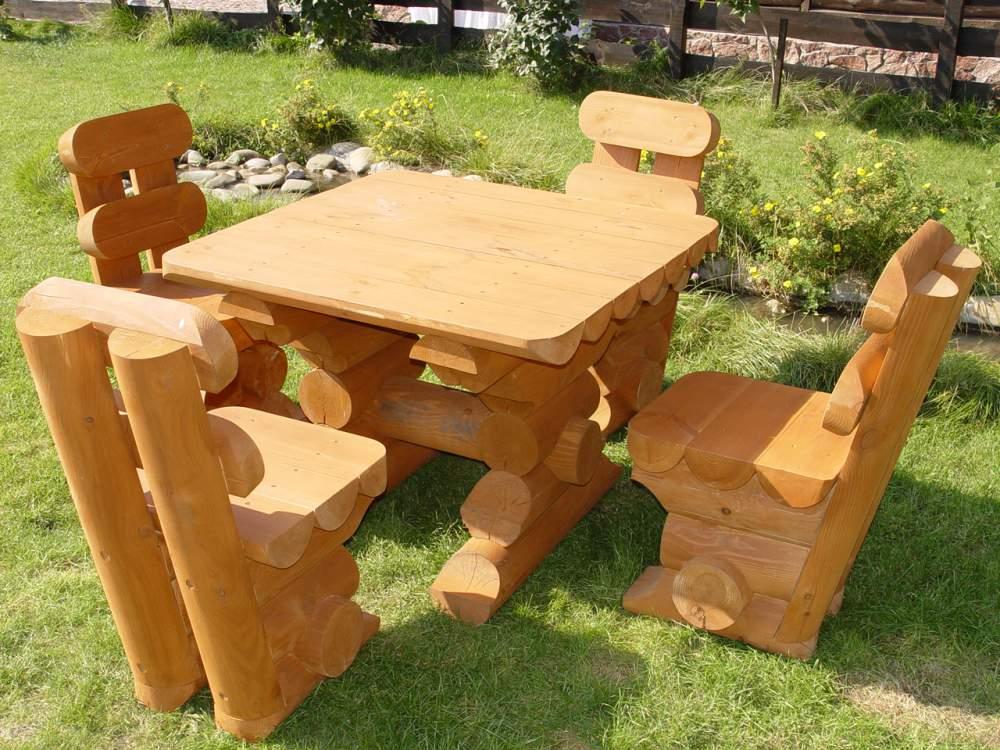 Садовая мебель из бревна