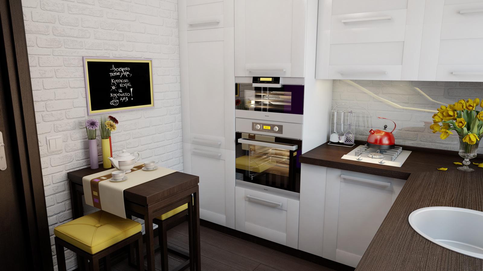 Как увеличить маленькую кухню? дизайнерские решения для мале.