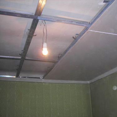 Фото: Потолок с гипсокартона