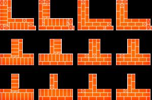 Схема кладки кирпичных стен и углов