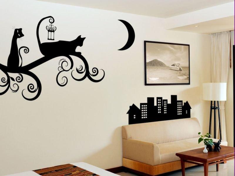 Рисунки на стенах дома своими руками