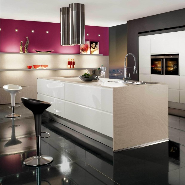 Дизайн кухни в стиле хай