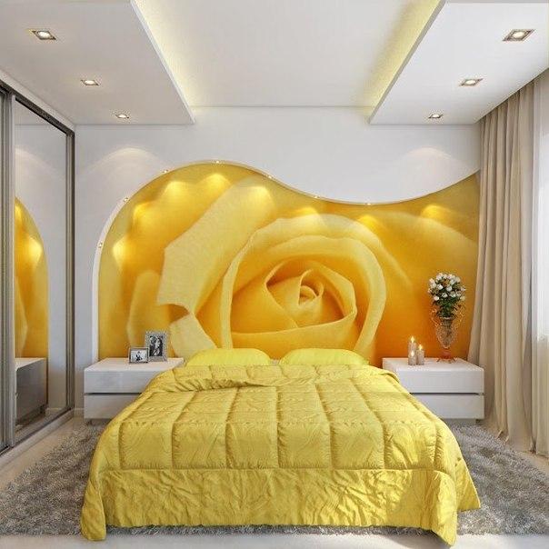 Выбираем дизайн спальни с фотообоями