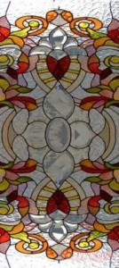 витражные стёкла с бевелсами