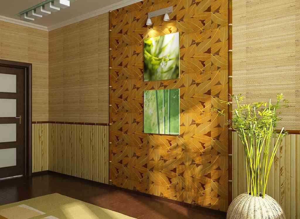 Дизайн комната бамбук