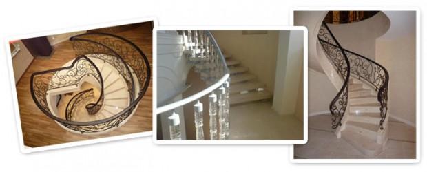 винтовая и спиралевидная лестница