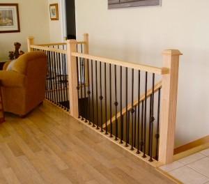 Перила для лестниц - материалы и установка