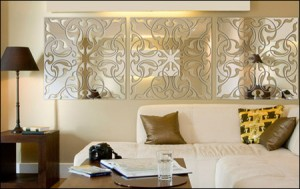 Применение зеркал в интерьере гостиной