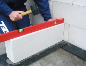Монтаж перегородки из газобетонных блоков