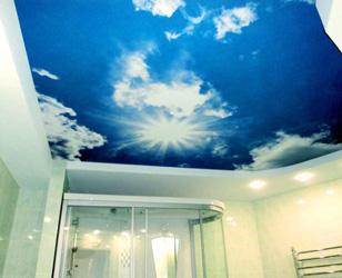 Натяжной потолок в помещении с повышенной влажностью (Ванная комната)