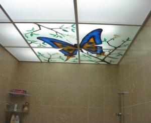 Подвесной потолок в комнате с повышеной влажностью (Ванная комната)