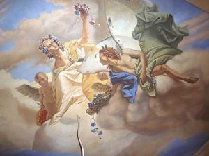 Акриловая роспись потолка