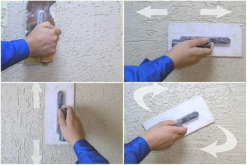 Как наносить декоративную штукатурку короед своими руками