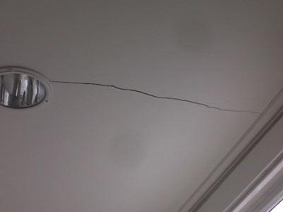 Crepe soffitto pericolo