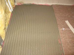 Укладка плитки на криволинейных участках пола