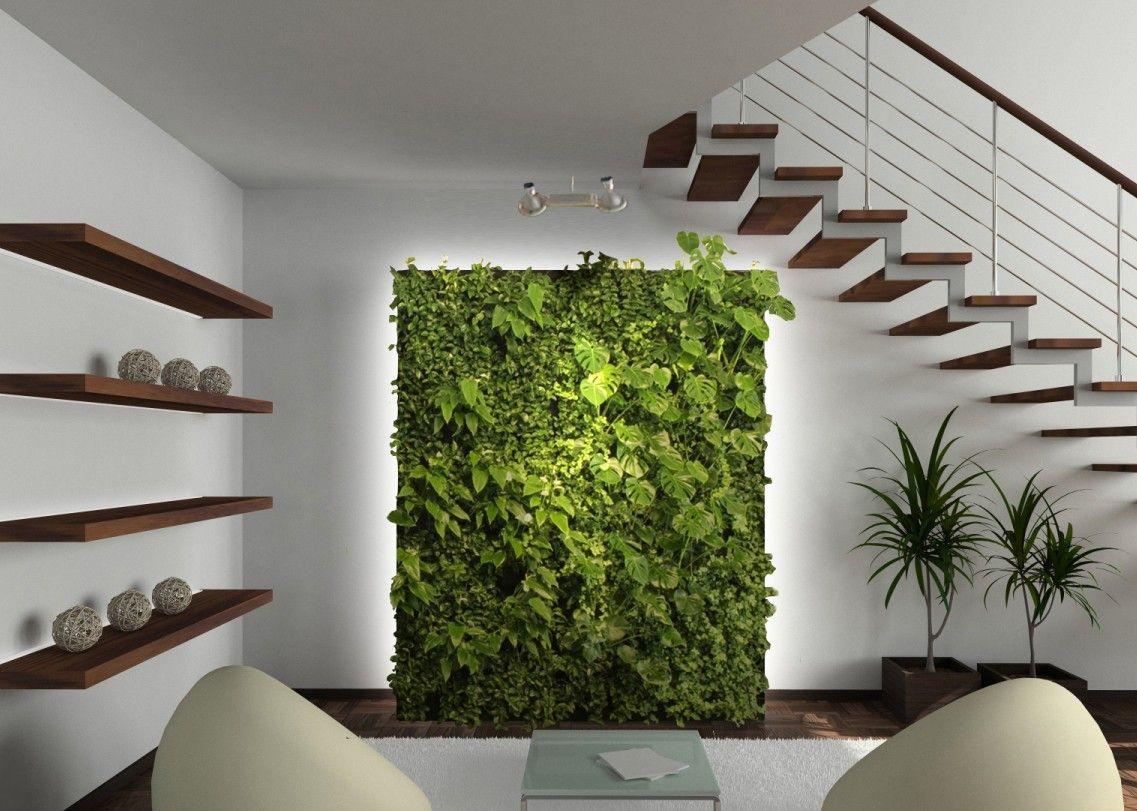 Зеленая стена в интерьере своими руками 81