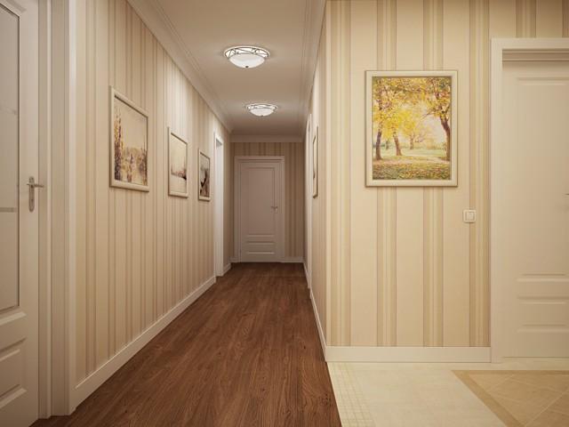 обои для длинного узкого коридора фото