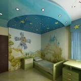 """Натяжной полок """"Звёздное небо"""" для детской комнаты"""