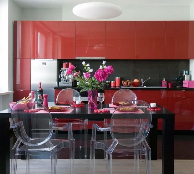 Красный цвет в интерьере квартиры