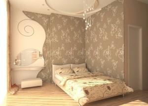 компенсировать недостатки комнаты обоями