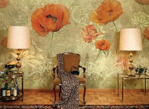Фото: Фактурная отделка стены в гостиной