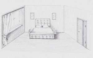 Где поставить кровать в спальне