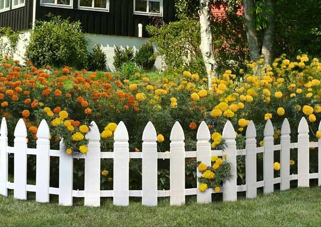 Ограждения для цветов из дерева