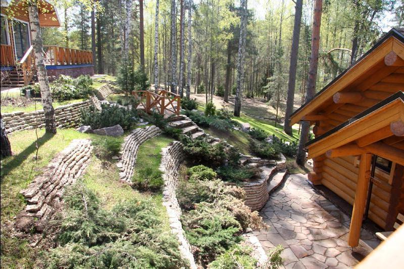 Садовый участок на склоне планировка обустройство дизайн