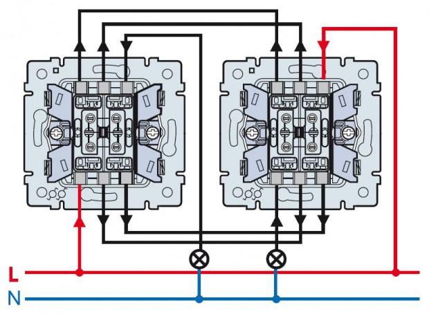 Монтаж двойного (двухклавишного) выключателя своими руками