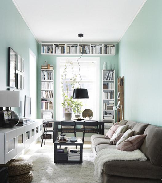 хранить книги в маленькой квартире